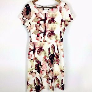 Ivanka Trump Floral Fit & Flare Dress Sz 8